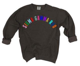 Sigma Gamma Rho Comfort Colors Rainbow Arch Crew