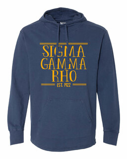 Sigma Gamma Rho Comfort Colors Terry Scuba Neck Established Hooded Pullover