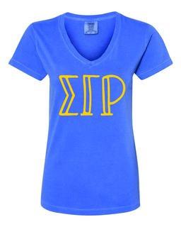 Sigma Gamma Rho Comfort Colors V-Neck T-Shirt