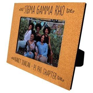 Sigma Gamma Rho Cork Photo Frame