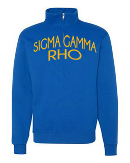 Sigma Gamma Rho Over Zipper Quarter Zipper Sweatshirt