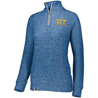 Sigma Gamma Rho Cuddly 1/4 Zip Pullover