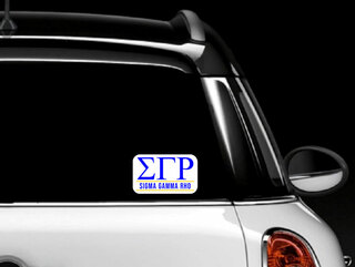 Sigma Gamma Rho Custom Sticker - Personalized