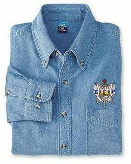 DISCOUNT-Sigma Gamma Rho Denim Shirt - Shield