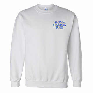 Sigma Gamma Rho Embroidered Name Crewneck