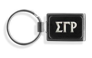 Sigma Gamma Rho Engraved Chrome Keychains