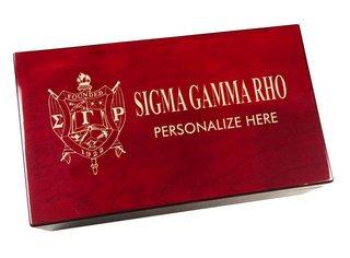Sigma Gamma Rho Engraved Gavel Set
