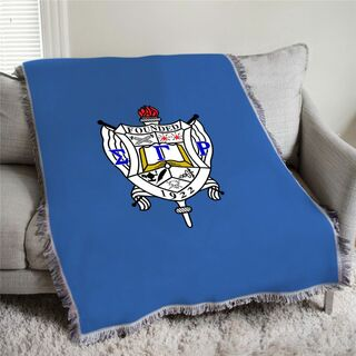 Sigma Gamma Rho Full Color Crest Afghan Blanket Throw