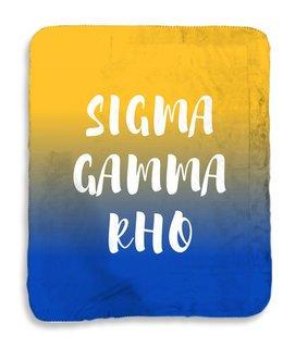 Sigma Gamma Rho Gradient Sherpa Lap Blanket