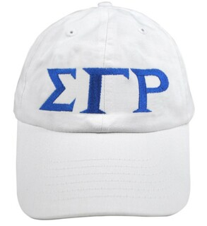 Sigma Gamma Rho Greek Letter Hat