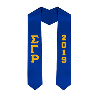 Sigma Gamma Rho Greek Lettered Graduation Sash Stole With Year - Best Value