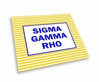 Sigma Gamma Rho Striped Mousepads