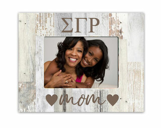Sigma Gamma Rho Hearts Faux Wood Picture Frame