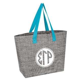 Sigma Gamma Rho Heathered Mesh Tote Bag