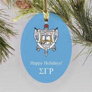 Sigma Gamma Rho Holiday Color Crest - Shield Ornament
