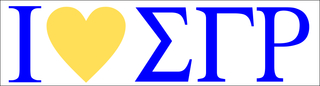Sigma Gamma Rho I Love Bumper Sticker