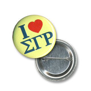 Sigma Gamma Rho I Love Mini Sorority Buttons
