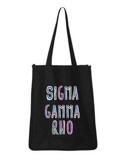 Sigma Gamma Rho Jumbo All In Tote Bag