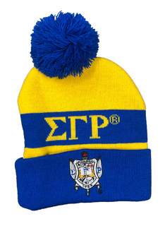 Sigma Gamma Rho Knit Beanie With Pompon