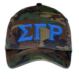 Sigma Gamma Rho Lettered Camouflage Hat