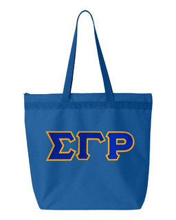 DISCOUNT-Sigma Gamma Rho Lettered Game Day Tote