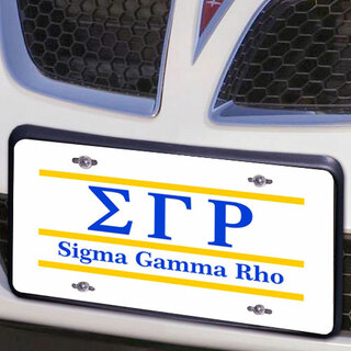 Sigma Gamma Rho Lettered Lines License Cover