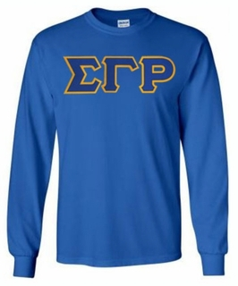 Sigma Gamma Rho Lettered Long Sleeve Tee- MADE FAST!