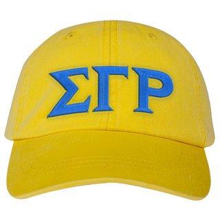 Sigma Gamma Rho Lettered Premium Pastel Hat