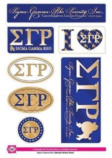 Sigma Gamma Rho Lifestyle Stickers