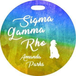 Sigma Gamma Rho Watercolor Luggage Tag