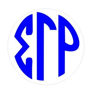 Sigma Gamma Rho Monogram Decal