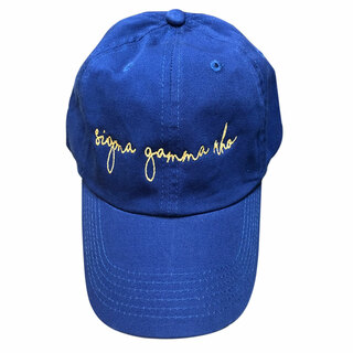 Sigma Gamma Rho Smiling Script Greek Hat