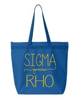 Sigma Gamma Rho New Handwriting Tote Bag