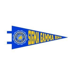 """Sigma Gamma Rho Pennant Decal 4"""" Wide"""
