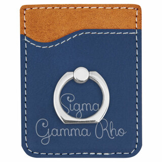 Sigma Gamma Rho Phone Wallet with Ring