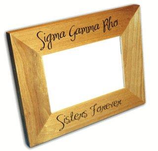 Sigma Gamma Rho Picture Frames