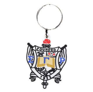 Sigma Gamma Rho Rubber Crest Key Chain