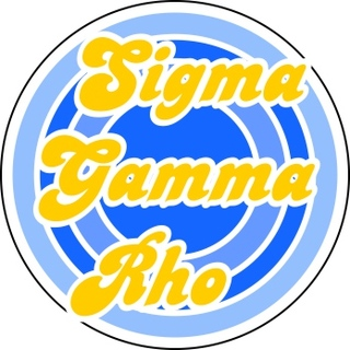 Sigma Gamma Rho Retro Round Decals