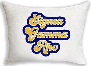Sigma Gamma Rho Retro Throw Pillow