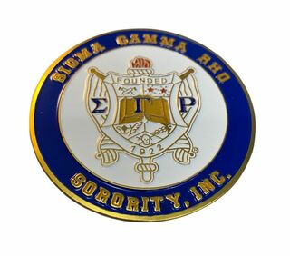 Sigma Gamma Rho Round Car Badges