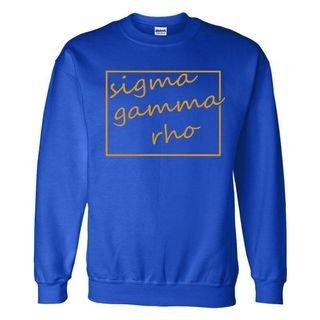 Sigma Gamma Rho Script Box Crewneck Sweatshirt