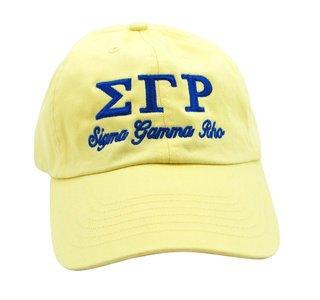 Sigma Gamma Rho Script Cap
