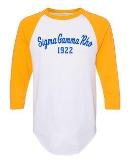 Sigma Gamma Rho Script Established Raglan