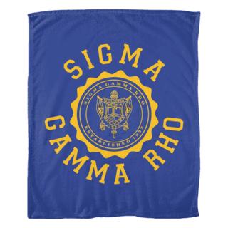 Sigma Gamma Rho Seal Fleece Blanket