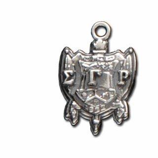 Sigma Gamma Rho Silver Crest - Shield Charm