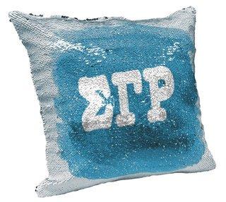 Sigma Gamma Rho Sorority Flip Sequin Throw Pillow Cover