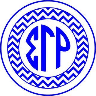 Sigma Gamma Rho Sorority Monogram Bumper Sticker