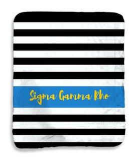 Sigma Gamma Rho Stripes Sherpa Lap Blanket