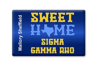 Sigma Gamma Rho Sweet Home Ceramic Magnet