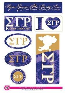 Sigma Gamma Rho Tie Dye Stickers